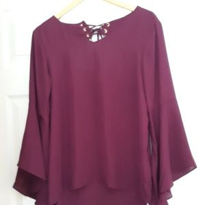 Wine Colored Blouse